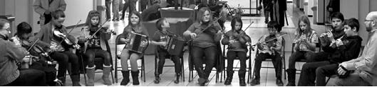 """Boston Comhaltas Music School's Réaltaí Geala Ensemble Class ~ """"Bright Stars"""""""